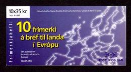 EUROPA 1996 - ISLANDE - CARNET Yvert C797 - Facit H30 - NEUF** MNH - Europa, Femmes Célèbres - Europa-CEPT