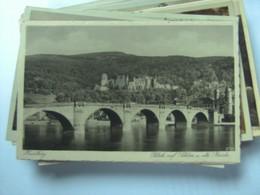 Duitsland Deutschland Baden Württemberg Heidelberg Blick Auf Schloss Und Brücke - Heidelberg