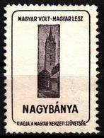 Nagybánya Baia Mare St. Stephen Tower Castle Occupation WW1 Romania Hungary Transylvania - Vignette Label Cinderella - Transylvanie