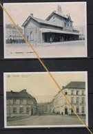 2 REPRODUCTIONS  TORHOUT  WEST VLAANDEREN  TRAM TREIN STATION HOTEL RESTAURANT - Torhout