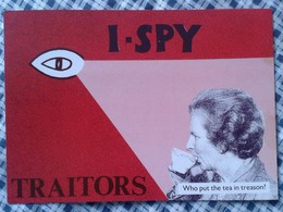 POSTAL POST CARD CARTE POSTALE MAGGIE MARGARET TATCHER POLITIC POLITICAL SATIRE I SPY TRAITORS BIG CHIEF PARTY STATE VER - Sátiras