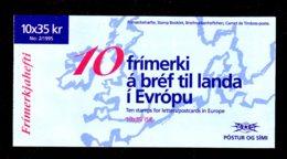EUROPA 1995 - ISLANDE - CARNET Yvert C777 - Facit H26 - NEUF** MNH - Europa, Paix Et Liberté - Europa-CEPT