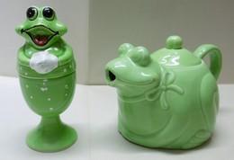 THEIERE Ou CAFETIERE + COQUETIER GRENOUILLES  - Animaux Grenouille - Teapots