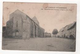 87 HAUTE VIENNE - CP LE LIMOUSIN PITTORESQUE - BESSINES - L'EGLISE ET LA PLACE - PM N° 1639 - FM 1915 - Bessines Sur Gartempe