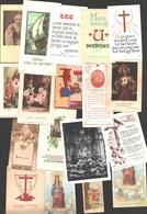Lot 123 X Bidprentje / Religieus Prentje / Image Pieuse / Prayer Card / Religious Image - Gevarieerd / Varié - Santini
