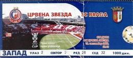 Sport Ticket UL000562 - Football (Soccer / Calcio) Crvena Zvezda (Red Star Belgrade) Vs Braga: 2005-09-15 - Tickets D'entrée
