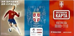 Sport Ticket UL000567 - Football Soccer Calcio Serbia Vs Finland Kazakhstan Poland: 2007-09-08  2007-11-17  2007-11-21 - Tickets D'entrée