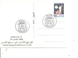 Espace - Apollo 11 ( CP Maximum D'Algérie De 1969 à Voir) - FDC & Commemoratives