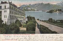 STRESA-VERBANO CUSIO OSSOLA-LAGO MAGGIORE-HOTEL=DES BORROMES=CARTOLINA VIAGGIATA IL 26-6-1904 - Verbania