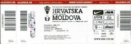 Sport Ticket UL000576 - Football (Soccer / Calcio) Croatia Vs Moldova: 2016-05-27 - Tickets D'entrée