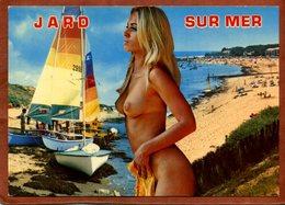 CPSM De JARD-SUR-MER Avec Femme Nue      Très Bon état - Célébrités D'époque < 1960