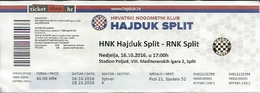 Sport Ticket UL000579 - Football (Soccer / Calcio) Hajduk Split Vs RNK Split: 2016-10-16 - Tickets D'entrée
