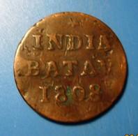 INDES Néerlandaises, 5 1/16 Gulden (1 Duit), écu Couronné Des Pays-Bas, 1808 G ( Enkhuizen) TB - [ 4] Colonies