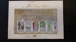 First Day Sheet: Les Légumes De Jadis 5 . Série Numéro Bl186 - FDC
