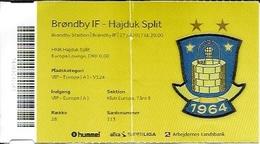 Sport Ticket UL000583 - Football (Soccer / Calcio) Brøndby (Brondby) Vs Hajduk Split: 2017-07-27 - Tickets D'entrée