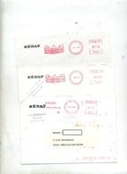 3 Lettre Flamme Ema Senat - Marcophilie (Lettres)