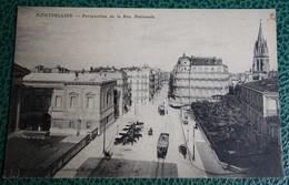 Cpa  - 34 - Montpellier - Perspective De La Rue Nationale - Montpellier