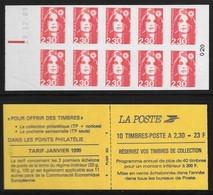 Carnet 2630-C1 Daté 29.12.89 + RE Marianne De Briat 2,30 Rouge Réservez Vos Timbres - Carnets