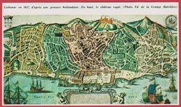 Lisbonne En 1657 D'après Une Gravure Hollandaise. Portugal. Encyclopédie De 1970 - Autres