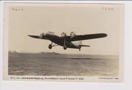 Vintage Rppc KLM K.L.M Royal Dutch Airlines Fokker F-XXII Aircraft - 1919-1938: Between Wars