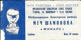 Sport Ticket UL000602 - Boxing International Tournament Belgrade 11-29 - Tickets D'entrée