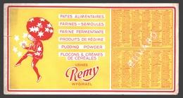 Vloeipapier / Buvard - Usines Remy Wygmael - Kalender / Calendrier 1950 - Alimentaire