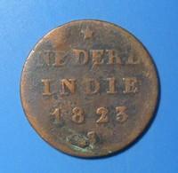 INDES Néerlandaises, 1/2 Stuiver Aux Armes D'Utrecht Pour Sumatra 1823, B+ - [ 4] Colonies