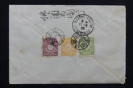JAPON - Enveloppe Pour La France En 1906 , Affranchissement Plaisant Au Verso ( Tricolore ) , à étudier - L 24568 - Giappone