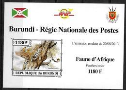 BURUNDI Epreuve De Luxe  N° 2099  * *    NON DENTELE Panthere - Roofkatten