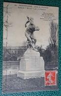 Cpa  - 34 - Montpellier - Jardin De L'esplanade Statue De Marsyas Par J Villeneuve 1914 - Montpellier