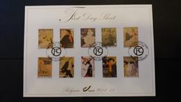 First Day Sheet: Henri De Toulouse-Lautrec à Ixelles   . Série Numéro 4145/54 - FDC
