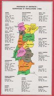 Provinces Et Districts: Superficies Et Populations En 1666. Portugal. Encyclopédie De 1970 - Vieux Papiers