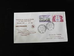 OUVERTURE PAR AIR FRANCE DE L'ESCALE DE MANILLE SUR LIGNE PARIS - TOKYO - BOEING 747  -  1974  - - Air Post