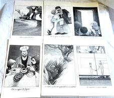 Lote De Antiguas Ilustraciones Extraídas De Libro De Claude Lapointe - 1989 - Dibujos