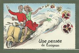 CARTE POSTALE VIENNE 86 UNE PENSEE DE LUSIGNAN 1962 - Lusignan