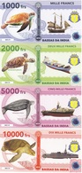 Bassas Da India Terres Australes Fr 1000 2000 5000 10000 Francs 2018 UNC Polymer Lemberg-Zp - Banknotes