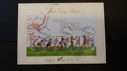 First Day Sheet: Les Femmes Et Le Sport D'équipe  . Série Numéro Bl190 - FDC