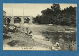 CARCASSONNE - Les Bords De L'Aude Et Le Pont Vieux .  ( Lavandières )  ( Ref 159 ) - Carcassonne
