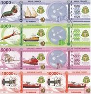 Ile Europa Terres Australes Franc - 1000 2000 5000 10000 Francs 2018 UNC Polymer Lemberg-Zp - Banknotes