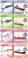 Ile Tromelin Terres Australes Franc 1000 2000 5000 10000 Francs 2018 UNC Polymer Lemberg-Zp - Banknotes