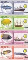 Iles Glorieuses Terres Australes Fr 1000 2000 5000 10000 Francs 2018 UNC Polymer Lemberg-Zp - Banknotes