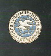 Badge émaillé Paix  Multilingue - Militaria