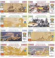 Saint-Pierre-et-Miquelon Terres Australes F 1000 2000 5000 10000 Francs 2018 UNC Lemberg-Zp - Andere