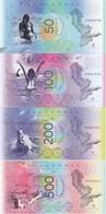 Zealandia - Tasmantis - 50 100 200 500 Gulden 2018 UNC Polymer Lemberg-Zp - Andere