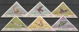 HR 1949 BIRDS, CROATIA HRVATSKA- EMISSONE IN EXILIO, 1 X 6v INPERFORATED, MNH - Kroatien