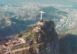 BRAZIL - Rio De Janeiro 1977 - Aerial View - Christ Redeemer - Rio De Janeiro