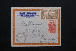COTE DES SOMALIS - Enveloppe De Djibouti Pour Paris En 1940 , Affranchissement Plaisant - L 24581 - Côte Française Des Somalis (1894-1967)
