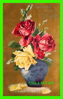 FLEURS - FLOWERS - ROSES - WITH ALL KIND THOUGHTS - TRAVEL IN 1909 - - Fleurs