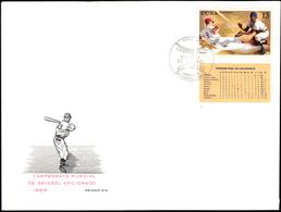 CUBA 1969, SPORT, WORLD BASEBALL CHAMPIONSHIP - FDC