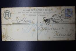Transvaal  Uprated Registerd Cover Johannesburg -> Utrecht Holland  HG 4c 225:100 Mm - Sud Africa (...-1961)